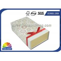 Branding Customized Collapsible Rigid Box with Ribbon Decorated for Chocolate Manufactures