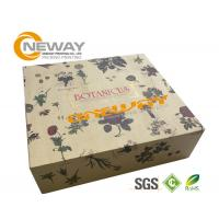 Silk Screen Printing Gift Packaging Box ,  Brown Kraft Magnetic Gift Boxes Manufactures