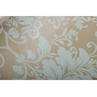 Free Style PVC Damascus Wallpaper with Flower Shape for Hotels Manufactures