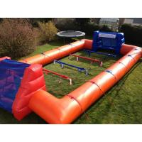 China Big Inflatable Sport Games Human Football Court 0.55mm Pvc Material With Blower wholesale