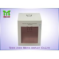 Recycled C1s Crown Gift Packaging Boxes With Pvc Window , Two Sides Printing Manufactures
