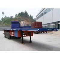 Container Carrying Flatbed Semi Trailer Truck 3 Axles 30-60 Tons 13m Manufactures