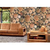 Annual ring 3d home PVC removable reusable wallpaper for study room Manufactures