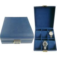 China Luxury Custom Pattern Leather Watch Boxes Cases 6 Slot Watches Display With Lock on sale
