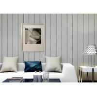 China 0.53*10M / Roll Living Room Contemporary Wall Coverings With Vertical Stripes Pattern on sale