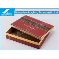 Matt / Glossy Lamination Red Cardboard Gift Boxes For Skin Care Gift Set Manufactures
