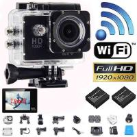China New Style W9 WIFI Action Camera 2.0LCD Full HD 1080P Camcorder CMOS Diving 30M Sports DV on sale