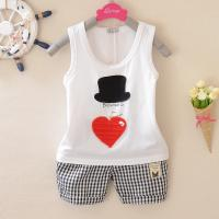China cotton baby vest set summer baby clothing infant 0-1-2-3 wear on sale
