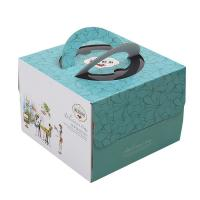 Delicate Corrugated Cardboard Gift Boxes , Birthday Cake Packaging Boxes Manufactures