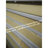 Gray / White Cold Room Panel Polyurethane / PU Sandwich Panels , Width 950mm Manufactures