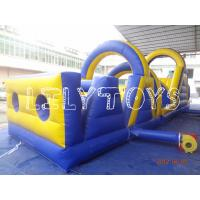 Blue Sports Game Inflatable Bouncer Obstacle Courses , EN14960 Inflatable Obstacle Manufactures