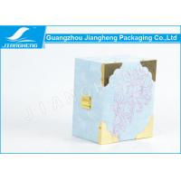 Velvet / Wooden Single Perfume Packaging Boxes Neat Sky Blue Mini Gift Box Manufactures