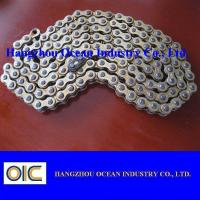 China High Wear Resistance Motorcycle Chains With Copper Plated , Long Life Time on sale