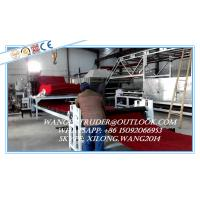 Plastic PVC Cushion Mat Carpet Extrusion Line / Manufacturing Machine Manufactures