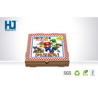 China Color Printed Kraft Paper pizza box cardboard , take away pizza packing box wholesale