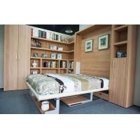 China Vertical Double Contemporary Wall Bed E 1 Standard MDF With Bookshelf and Office Table on sale