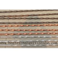 China Twisted Stainless Steel , Finned Copper Tube With Higher Heat Transfer Coefficient on sale