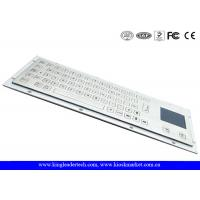 Brushed IP65 Kiosk Metal Industrial Keyboard With Touchpad Panel Mount From The Back Manufactures