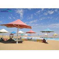 China Colored Strong Tensile Roof Structures Steel for Beach Sunshade on sale