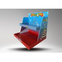 Custom logo Colorful Retail Display Stands / Candle Display Racks With 2 Tiers Manufactures