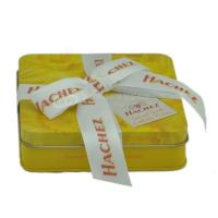 Custom rectangular candy tin box  chocolate gift boxes with ribbon Manufactures