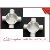 White GI 4 Way Electrical Junction Box PVC Conduit and Fittings BS4662 Standard Manufactures