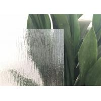 Rain Patterned Glass For Doors Window , Artistic Opaque Patterned Glass Rough grind  finish edge  Glass Block Manufactures