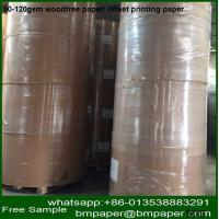 China BMPAPER Super Quality Uncoated Kraft Paper Roll By Waste Paper on sale