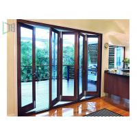 China Fire Proof Aluminium Bifold Patio Doors , Residential Folding Doors With Louver Inside wholesale