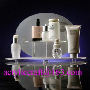 China Custom design retail shop table acrylic makeup display stand / cosmetic display rack wholesale