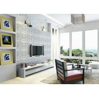 3D PVC Geometric Printing Wallpaper TV Background Contemporary Wall Covering Manufactures