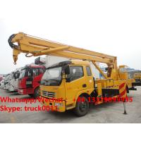 China Factory sale cheapest price Dongfeng LHD 16m aerial platform truck, Wholesale best price 12-16m overhead working truck wholesale