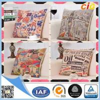 Linen Fabric Embroidered Decorative Replacement Seat Cushion Covers for Chairs / Sofa Manufactures