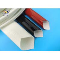 Electric Wires Varnished Silicone Fiberglass Sleeving / Fiber Glass Insulation Sleeve