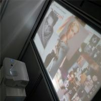 High Contrast 3D Holographic Display Gray Rear Projection Film For Window Advertising Manufactures