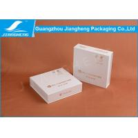 White Square Paper Cosmetic Packaging Boxes , Rigid Cardboard Gift Packaging Box Manufactures