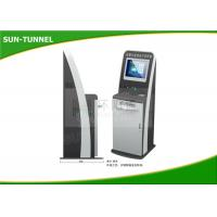 China Anti Dust 19 Inch Monitor Hotel Check In Kiosk With Receipt Ticket Printer on sale