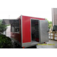 Square Custom Mobile Food Trailers With 4 Big Tires Disc Braking System Manufactures