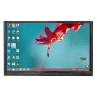 New 75 Inch Ultra thin touch screen monitor with anti glare glass for education Manufactures