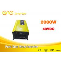 China single phase inverter off gird dc to ac pure sinewave inverter 48v 2000w 220v with charger wholesale
