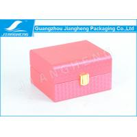 Water Red Color Perfume Packaging Boxes Pretty MDF / Texture leather Material Manufactures