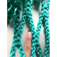Green Sea Rope Commercial HDPE Fishing Nets , Knotless Fishing Gill Nets