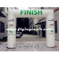 Buy cheap 4m*5m White Inflatable Arch, Cheap Inflatable Finish Line for Sports Arch from wholesalers