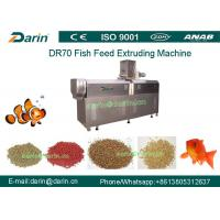 Quality DR70 High Quality Stainless Steel  Floating Fish Feed Double Screw Processing Line for sale
