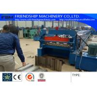 1.0-2.0mm Thickness Color Steel Metal Deck Roll Forming Machine With Panasonic PLC Control Manufactures
