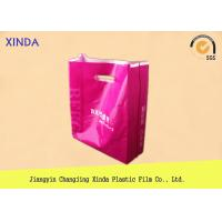 China ​Customized up to 12 colors print PE die cut shopping plastic gift promotional bags on sale