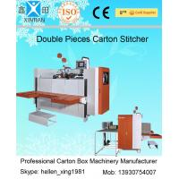Single / Double Nails Carton Stapler , Carton Stitching Machine with 4 Servo Motors Manufactures