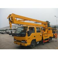 China Light Duty Shear Fork Truck Mounted Aerial Platform 10M - 24M Working Height For ISUZU on sale