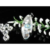 China Marquise Colorful Dichroic Glass Necklace Pendant 4491 on sale