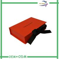 Hot Stamping Customized Printing Paper Folding Box With Magnetic Ribbon Close Manufactures